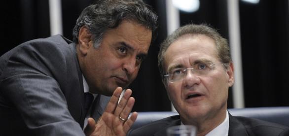 Aécio e Renan repudiaram acusações Foto: Jefferson Rudy/ Agência Senado (29/09/2015)
