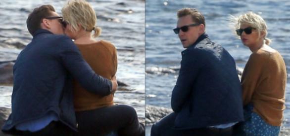 Casal estava em clima romântico na praia