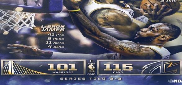 Increíble partido de LeBron, secundado por un gran Kyrie Irving