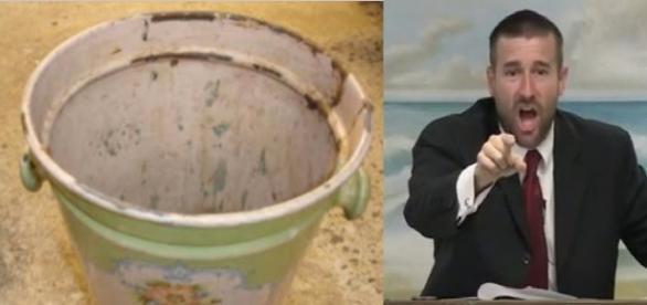 Mulher joga balde de fezes em pastor