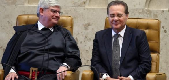 Rodrigo Janot e Renan Calheiros: guerra declarada