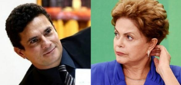 Sérgio Moro e Dilma Rousseff - Foto/Montagem