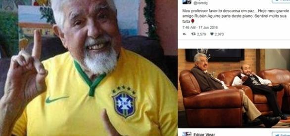 Édgar Vivar divulga morte de Rubén Aguirre