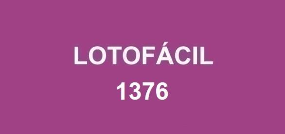 Resultado da Lotofácil 1376; Prêmio estimado em R$ 1,7 milhão