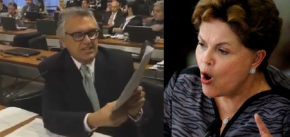 Senador mostra documentos importantes