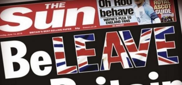 The Sun susține votul pentru Brexit