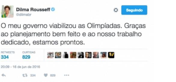 Tweet de Dilma provoca polêmica nas redes sociais
