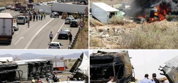 Un şofer român de camion a murit într-un accident în Spania