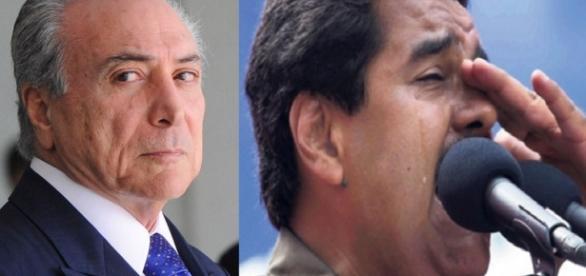 Michel Temer anuncia ajuda para Maduro