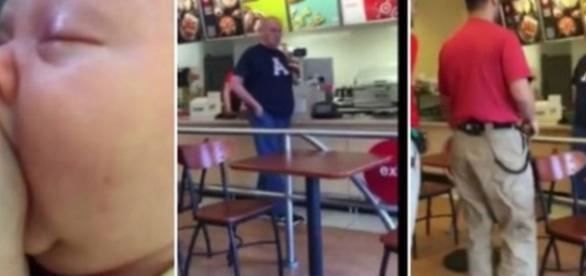 Vídeo mostra homem brigando com mulher por ela amamentar
