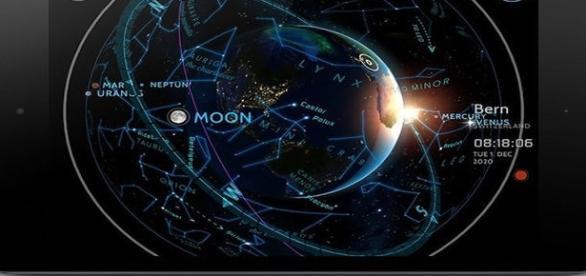 Além dos cosmos, relógio também mostra o mapa astral de cada pessoa