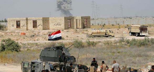 Foto del conflicto dentro de Faluya