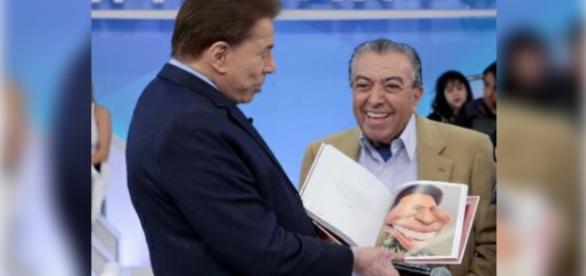Maurício de Souza se encontra com Sílvio Santos