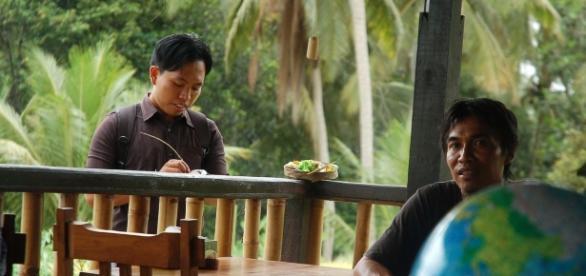 Mes deux guides indonésiens à Ubud (Bali)
