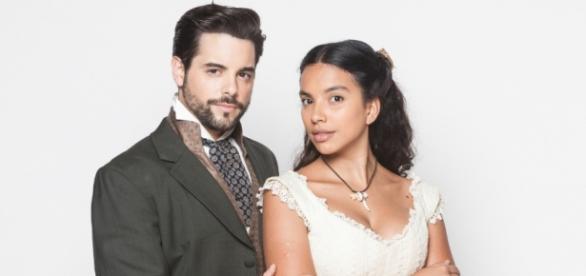 Juliana e Miguel viverão uma intensa história de amor, enfrentando inimigos poderosos e o preconceito. Foto: Edu Moraes/Rede Record