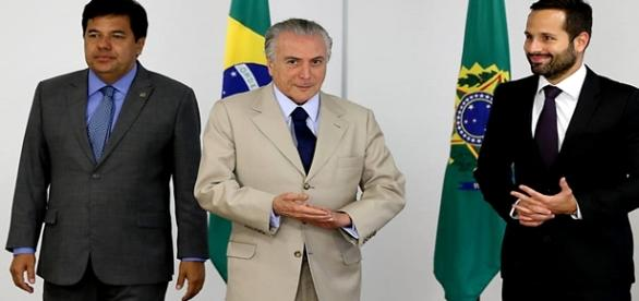 O presidente interino Michel Temer