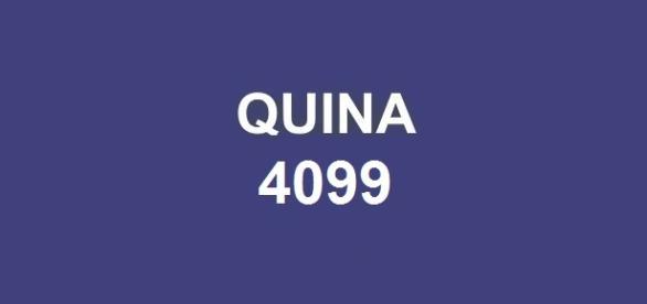 Segundo resultado da Quina (4099); Prêmio a ser sorteado é de R$ 2.200.000,00