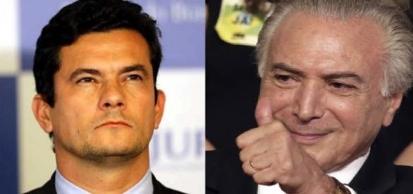 Sérgio Moro e Michel Temer - Foto/Montagem