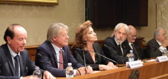 I senatori Amidei e Pelino assieme ad Alfredo Folliero ed Evandro Taddei