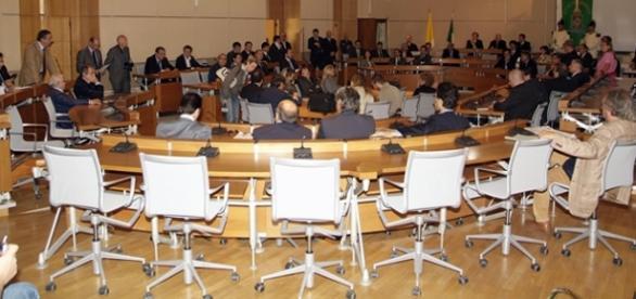 Un'immagine dell'assemblea consiliare del Vermexio