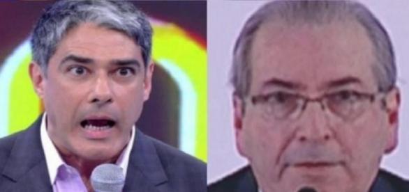 William Bonner e Eduardo Cunha - Foto/Montagem