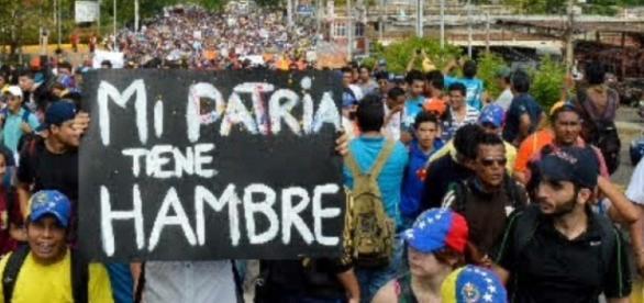 """""""Estamos pasando hambre"""", gritan venezolanos durante protesta ..."""