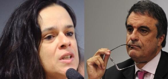 Janaína Paschoal e José Eduardo Cardozo - Foto/Montagem