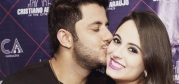 Cristiano Araújo e sua namorada Allana Moraes