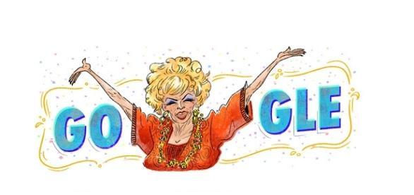 Doodle do Google desta quinta é uma homenagem à atriz Dercy Gonçalves.