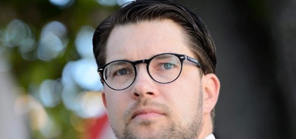Jimmie Åkesson, líder dos Democratas Suecos.