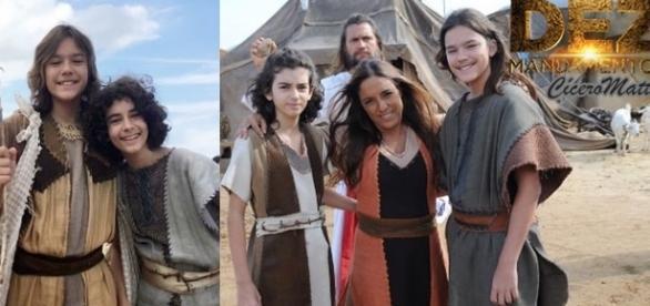 Os atores de Assir e Elcana surpreendem na trama