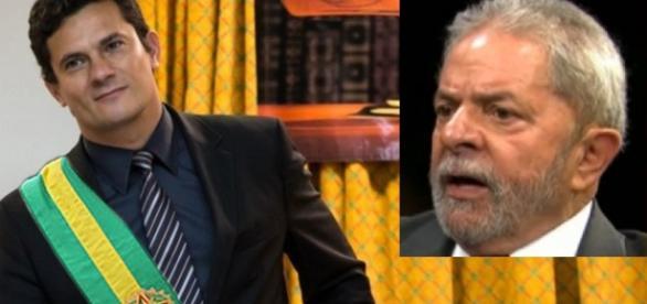 Sérgio Moro e Luiz Inácio Lula da Silva