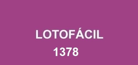 Veja o resultado da lotofácil 1378 sorteado nessa quarta-feira