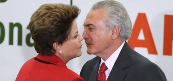 Dilma e Temer juntos, antes do processo de impeachment