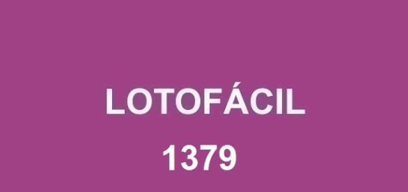 Resultado da Lotofácil 1380 com valor de R$ 1,7 milhão.