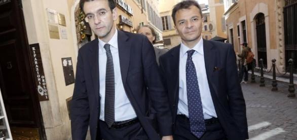 A sinistra Alfredo D'Attorre, a destra Stefano Fassina