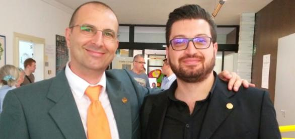 I due consiglieri comunali M5S di Cascina, Barontini e Loconsole