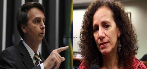 Jair Bolsonaro e Jandira Feghali