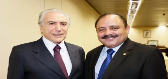 Michel Temer e Waldir Maranhão (créditos: fotospublicas.com)