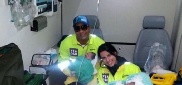 Gêmeos nascem dentro de ambulância na BR 040 (Foto: Reprodução/Google)