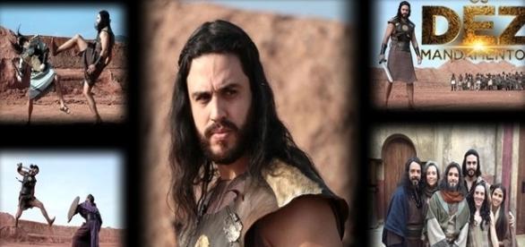 Guerreiro Eli e a família hebreia em 'Os Dez Mandamentos'
