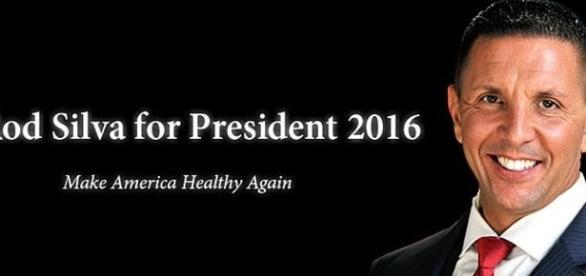 Pelo Partido da Nutrição Rod Silva tenta ganhar os EUA