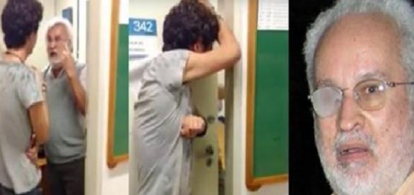 Professor se irrita por não conseguir dar aula