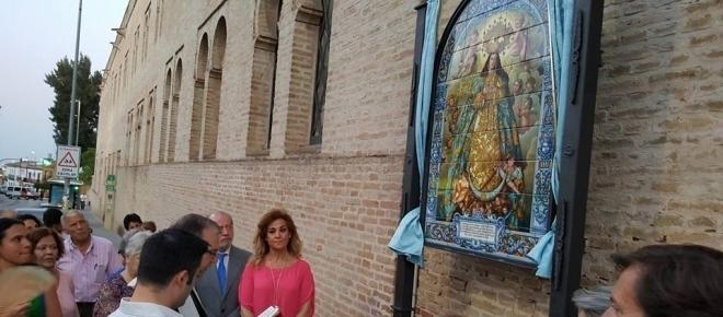 Castilleja recordará por siempre la Coronación de su patrona con un retablo cerámico