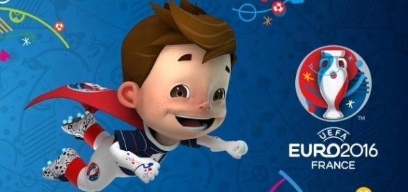 Das Maskottchen der EM 2016 in Frankreich. (c) UEFA
