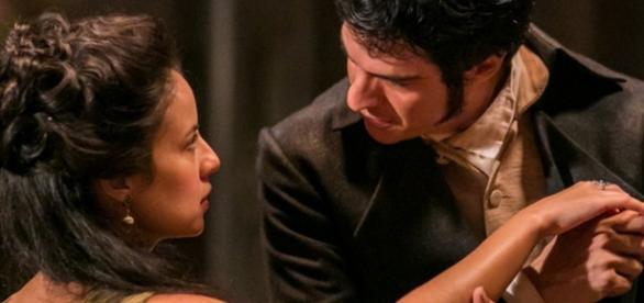 Rubião pede Joaquina em casamento