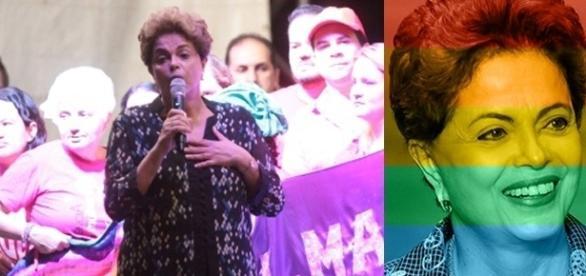 Dilma falou em evento que apoia causa LGBT (Foto: UOL)
