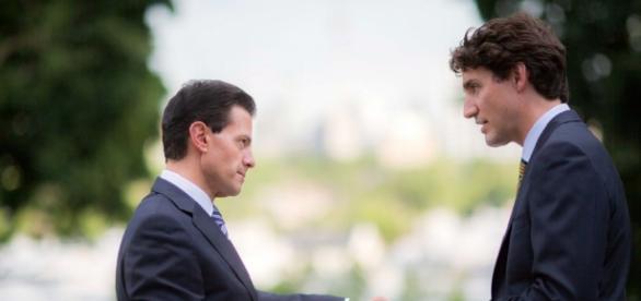 Enrique Peña Nieto y Justin Trudeau