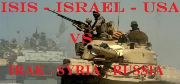 Ejercito Iraquí en Faluya con tanques rusos.