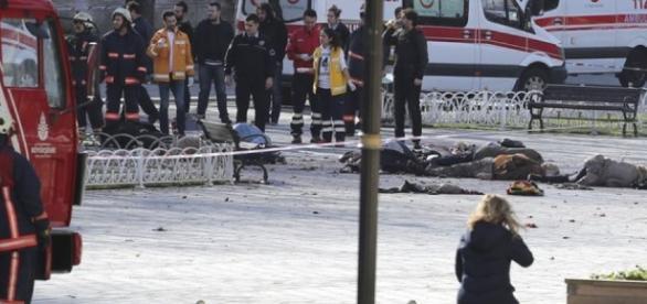 Foto del destrozo que dejó el atentado